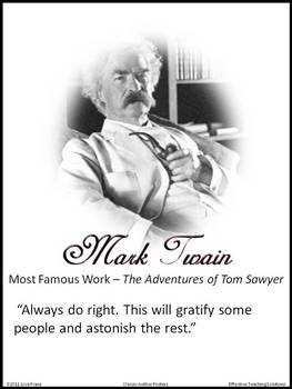Classroom Literary Posters of Classic Authors