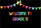 Classroom Location: bunting theme - EDITABLE