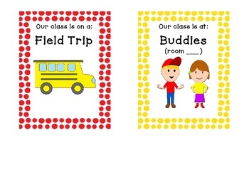 Classroom Location signs