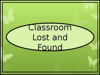 Classroom Lost and Found Crate Label - Butterfly Theme