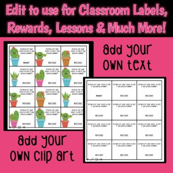 Classroom Lottery: Probability and Classroom Rewards (Editable)