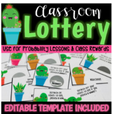 Probability and Classroom Rewards (Editable) Cactus Theme