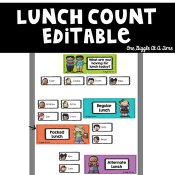 EDITABLE Classroom Lunch Count Display
