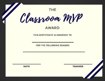 Classroom MVP Award