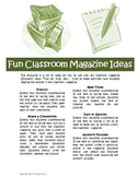 Classroom Magazine Comprehension Activities for Time or Sc