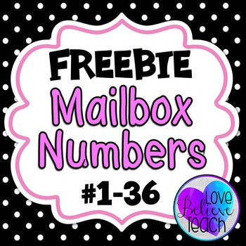 Mailbox Numbers