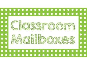 Classroom Mailbox Signs