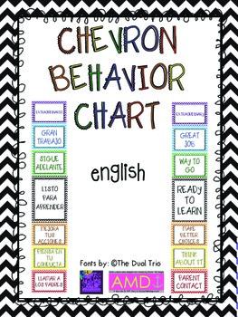 Chevron Behavior Chart! (English)