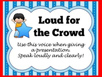 Voice Level Charts | Voice Level Posters | Voice Levels