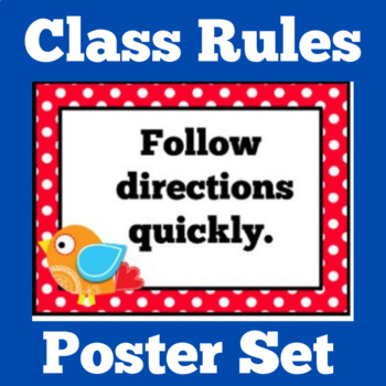 Class Rules Posters   Classroom Rules Posters   Class Rule