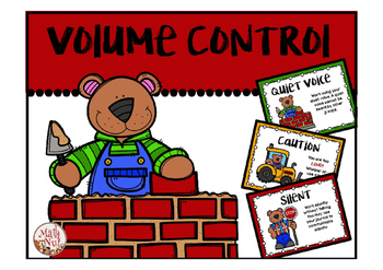 """Volume Control """"Classroom Management"""" (Back to School)"""