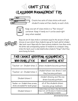 Behavior Assessment and Classroom Management Helpers Freebie