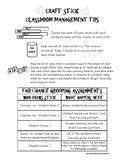 Behavior Assessment and Classroom Management Helpers Freebie