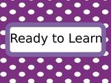 Classroom Management: 4 Tier Polka Dot Behavior Chart