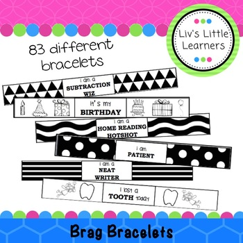 Classroom Management: 83 Brag Bracelets for Positive Reinforcement!