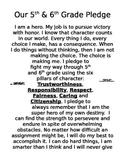 "Classroom Management: ""A Hero's Pledge"""