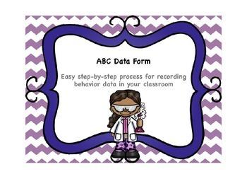 Classroom Management ABC/Behavior Data Form