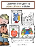 Classroom Management Absent Folders & Notes
