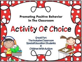 Classroom Management : Activity of Choice