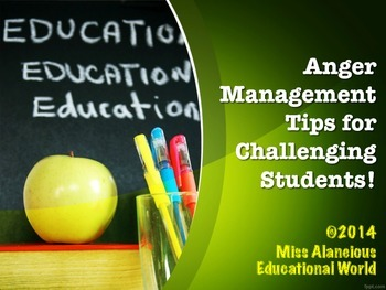 Classroom Management: Anger Management Training Material for Kiddos!