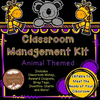 Classroom Management (Animal Theme) Classroom Money, Rewar