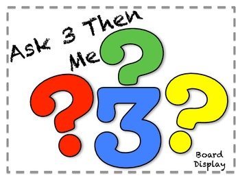 Classroom Management  - Ask 3 Then Me