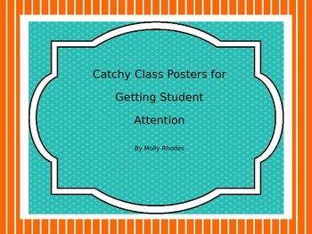 Classroom Management Attention Getting Posters