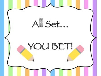 Colorful Stripes Classroom Management Attention Getting Posters
