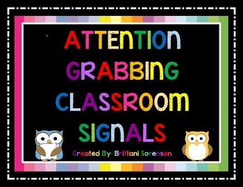 Classroom Management: Attention Grabbing Signal Signs