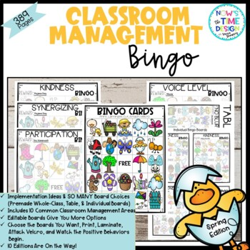Classroom Management BINGO Spring Edition