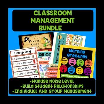 Classroom Management BUNDLE: Relationships, Noise Level, Individual/group mgmt