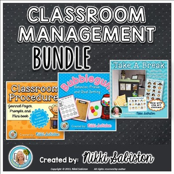 Behavior Management BUNDLE:Take A Break, Classroom Procedures, and Goal Setting