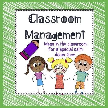 Classroom Management/Back to School/Calm Down Spot