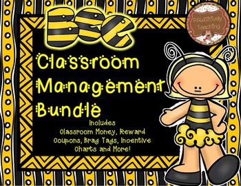 Classroom Management (Bee Themed) Classroom Money, Reward Coupons