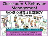 Classroom Management & Behavior Anchor Charts & Slideshow Bundle