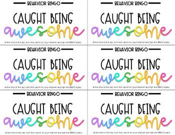 Classroom Management: Behavior Bingo (Editable)