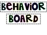 Classroom Management Behavior Board
