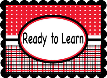 Classroom Management Behavior Chart - Red & Black