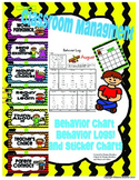 Classroom Management: Behavior Clip Chart, Behavior Logs, and Sticker Charts