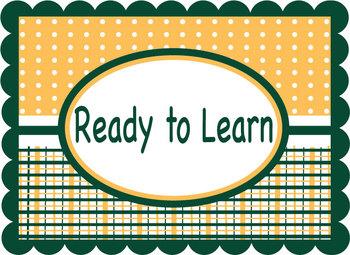 Classroom Management Behavior Chart - Green & Gold