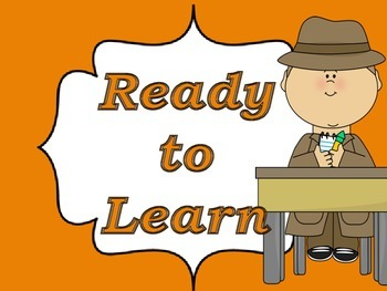 Classroom Management Behavior Chart with a Detective Theme