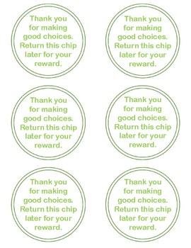 Classroom Management Behavior Chips FREEBIE