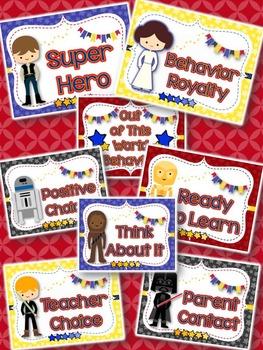 Behavior Clip Chart; Star Wars Inspired Theme-Classroom Management