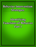 Classroom Management- Behavior Intervention