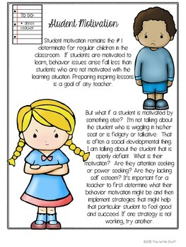 Behavior Charts for Classroom Management