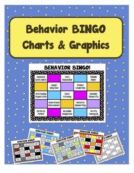 Classroom Management Behavior Modification BINGO Charts & Graphics