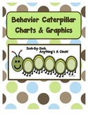 Classroom Management Behavior Modification Charts & Graphics (Caterpillar theme)