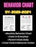 Classroom Management-Monthly Behavior Calendar Color Sheet