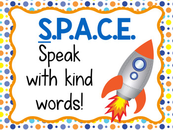Classroom Management Behavior Pack- Space Theme