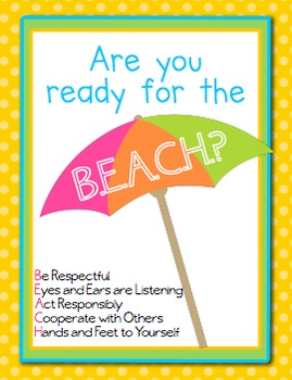 Classroom Management Behavior Pack- Tropical Beach Theme